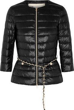 Icon black belted shell jacket