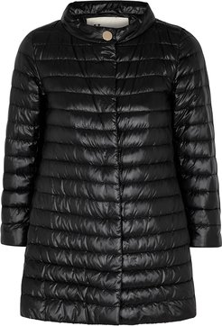 Black quilted shell jacket