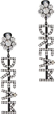 Dream crystal-embellished clip-on earrings