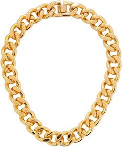 Armure gold-plated chain necklace