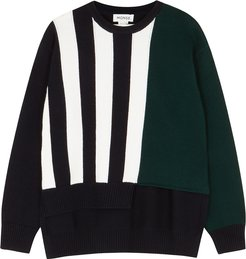 Striped merino wool jumper