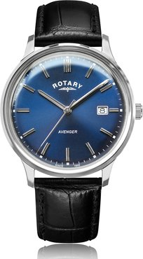 Rotary Avenger Stainless Steel Blue Dial Watch