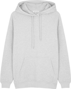 Grey hooded organic cotton sweatshirt