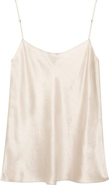 Ivory hammered satin top