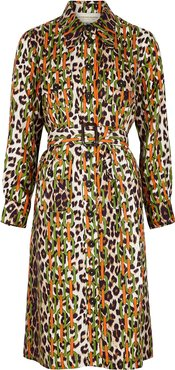 LouLou printed silk shirt dress