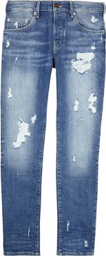 Rocco blue distressed slim-leg jeans