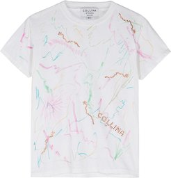 Scribble printed cotton T-shirt