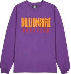 Purple logo-print cotton top