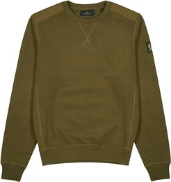Jarvis army green cotton sweatshirt