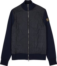 Kelby navy wool and shell jacket