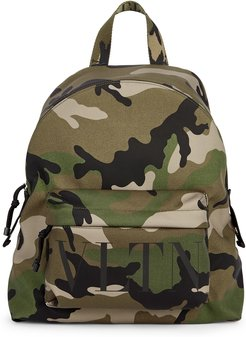 Garavani VLTN camouflage nylon backpack