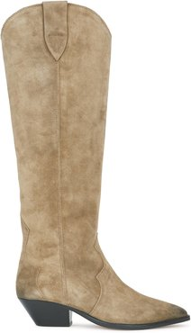 Denvee 50 taupe suede knee-high boots