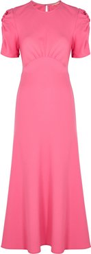 It's Up To You pink wool midi dress