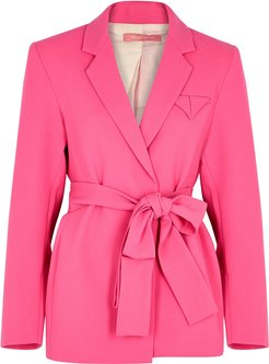 Have The Faith pink wool blazer