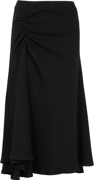 Together We Stand ruched jersey midi skirt