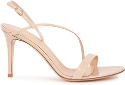 Vernice 85 blush patent leather sandals