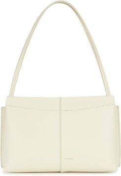 Carly mini ivory leather shoulder bag