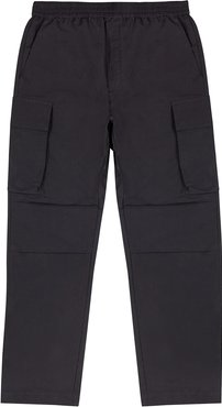 Halsey charcoal satin-shell cargo trousers