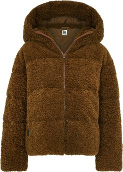 New Cloud brown quilted faux shearling jacket