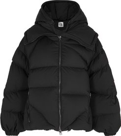 Amedeo black quilted shell jacket