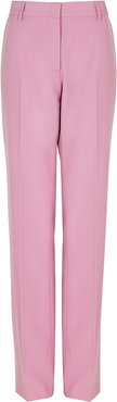 Pink straight-leg trousers