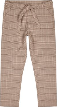 Ron checked seersucker trousers