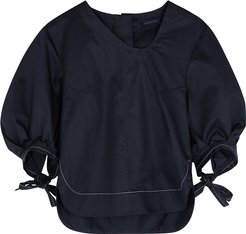 Penny navy cotton top