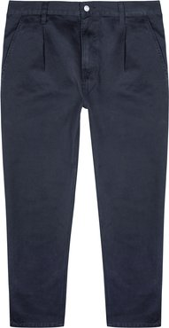 Abbott navy tapered cotton trousers