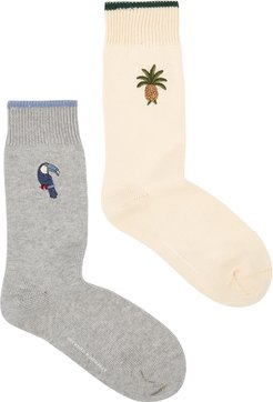 Howie cotton-blend socks - set of two