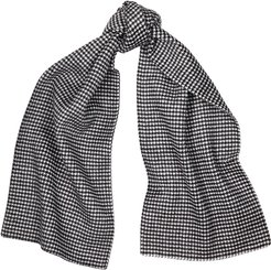 Houndstooth wool and cashmere-blend scarf