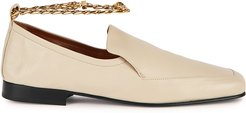 Nick cream leather loafers