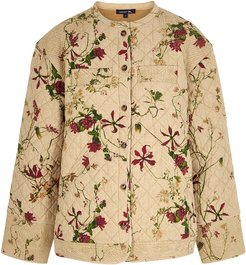 Italie floral-print quilted cotton jacket