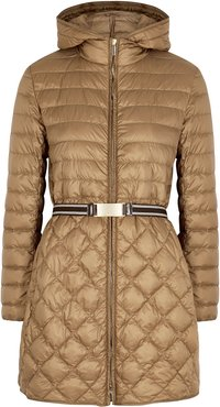 Etrevi camel quilted shell jacket