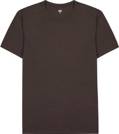 Cash dark brown stretch-jersey T-shirt