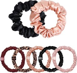Pure Silk Scrunchies - Limited Edition Plum Rose Mega Set
