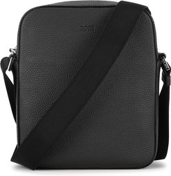 Crosstown black leather cross-body bag