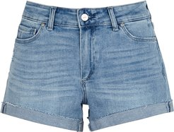 Jimmy Jimmy light blue stretch-denim shorts