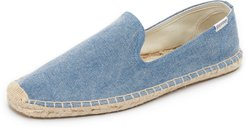 Washed Canvas Smoking Slippers