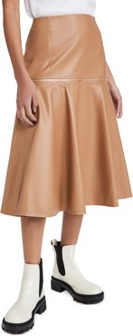 Faux Leather Zip Skirt