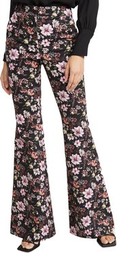 High Waist Fitted Flare Pants