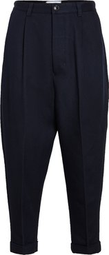 Wool Carrot Fit Trousers