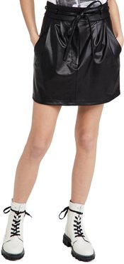 Claire Faux Leather Skirt