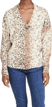 Millie Printed V Neck Sweater