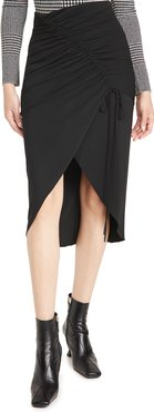 High Waisted Pencil Skirt with Drawstring