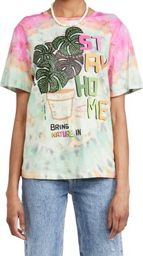 Stay Home White Tie Dye T-Shirt