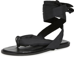 Puffy Wrap Sandals