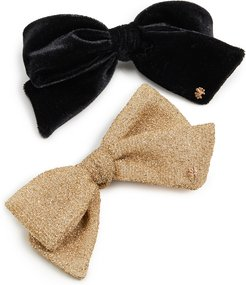 Set of Two Ribbon Bow-Tie Barrettes