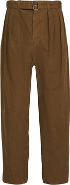 Cotton Ventile 4 Pleats Pants