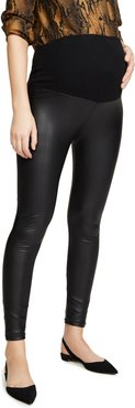Liquid Double Layer Over-Belly Leggings