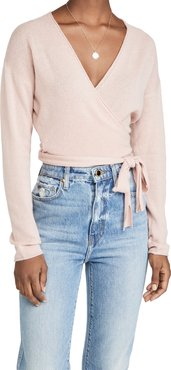 Relaxed Cashmere Wrap Sweater